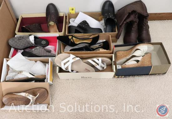 (7) Pair Ladies Size 7.5 Shoes / Boots and a pair of Size 10 Slip-ons