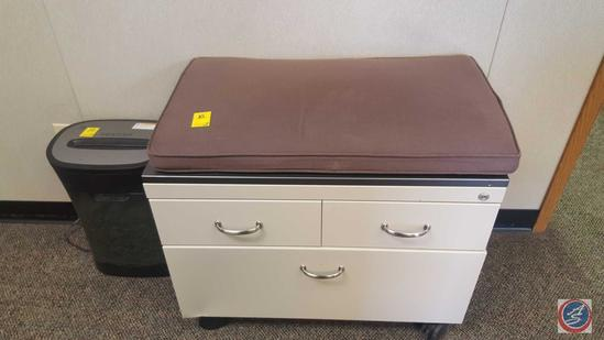 """Two Drawer Lateral Filing Cabinet 30"""" x 17"""" x 38"""", Three Drawer Storage Cabinet with Cushion 31"""" x"""