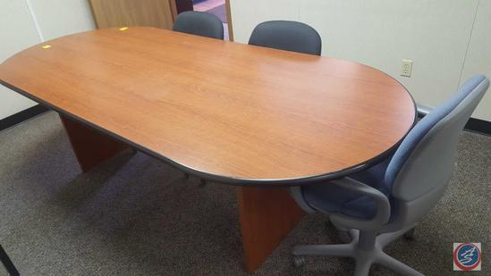 """Small Conference Table 95"""" 41"""" x 30, (3) Chairs"""