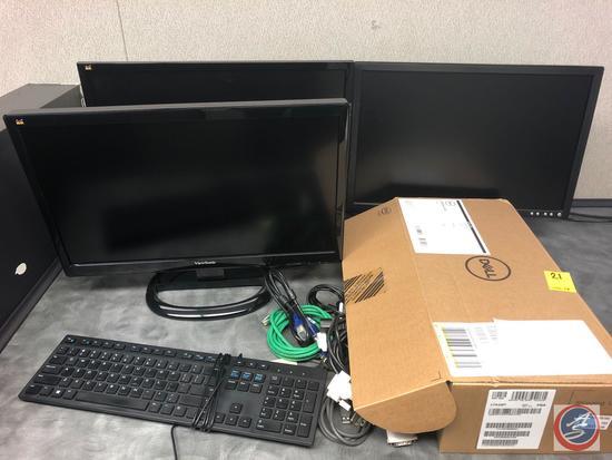 (2) View Sonic Monitors Model #VS16029, #VS15560, Dell Monitor Model #E207WFPc, Monitor Arm, Dell