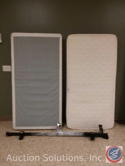 MasterSleep Chiro Posture Twin Mattress, Box Spring and Frame