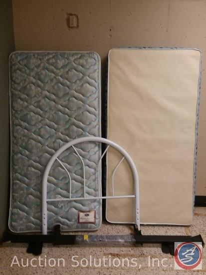 Berkshire Collection Oracle Twin Bed Mattress, Box Spring, Headboard and Frame