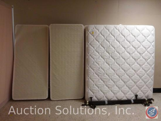 Hilton 'Suite Dreams' Serta Perfect Sleeper King Size Bed Mattress w/ Dual Box Spring and Frame