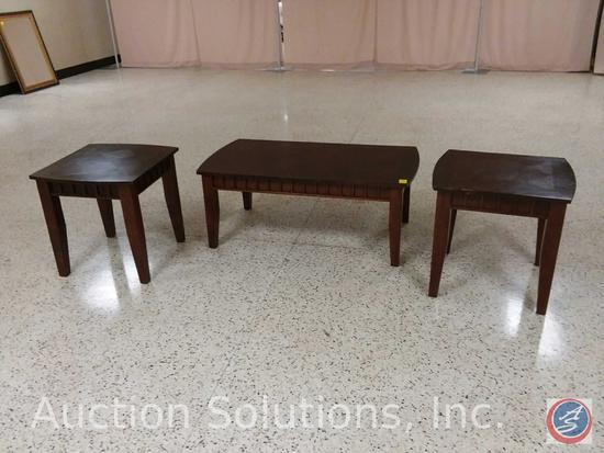 [3x$Bid] Coffee Table (48 x 22 x 14 in.), and (2) End Tables (24 x 22 x 23 in.) {SOLD 3x THE MONEY}