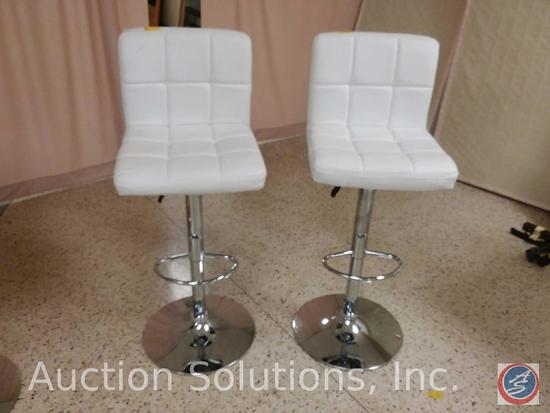 (2x$Bid) Adjustable Height Upholstered and Padded Chairs w/ Foot Rests {SOLD 2x THE MONEY}