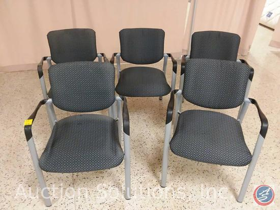 (5x$Bid) Upholstered and Padded Stackable Wait Chairs w/ Arms {SOLD 5x THE MONEY}