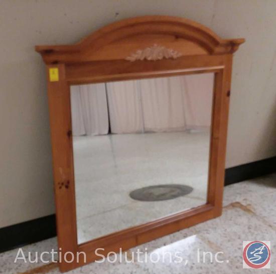 Decorative Wood Framed Vanity (Dresser) Wall Mirror (48 x 42 in.)