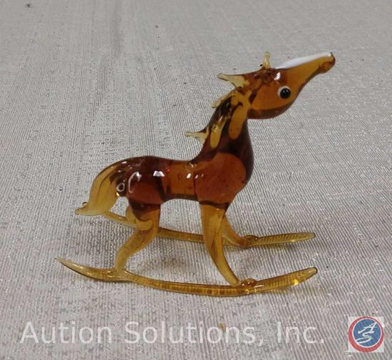Glass Rocking Horse 3''
