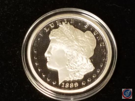 1889 Morgan Silver Dollar Stamped Copy