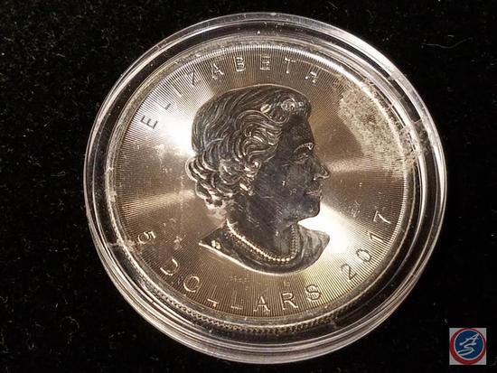 2017 Elizabeth $5 Dollar Coin - 9999 Fine Silver 1 Ounce