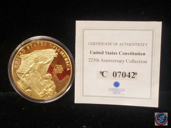United States Constitution 225 Anniversary Collection Proof 'For a More Perfect Union'