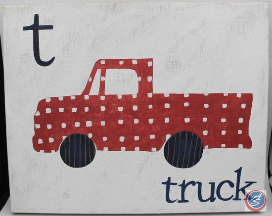 Canvas Art -- T is for Truck
