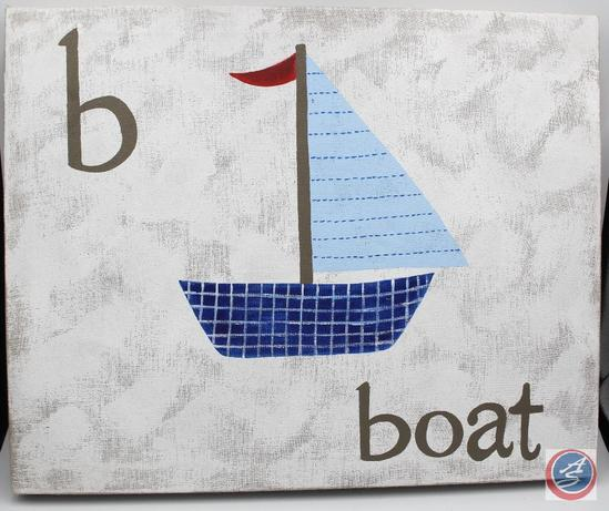 Canvas Art -- B is for Boat