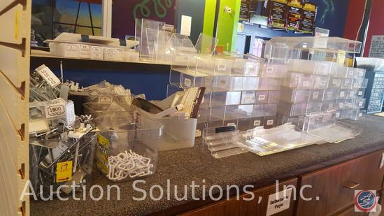 Slat Hangers, Plastic Tubs, Box of Tickets