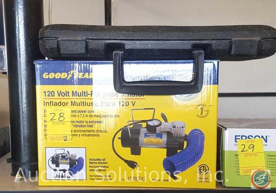 Good Year 120 Volt Multi-Purpose Inflator Part #i8000{{NEW IN BOX}}, Ace Hardware Ratchet Set
