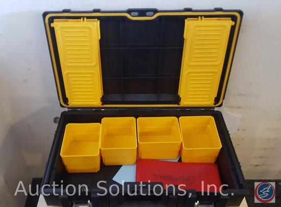 DeWalt Tool Box {{BOX IS SCREWED TO WOODEN PLANKS WHICH ARE SCREWED INTO THE FLOOR}}