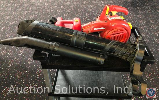 Homelite 26B Gas Powered Blower with Attachment and One Gallon Gas Can