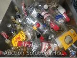 Assortment of Empty Liquor Bottles