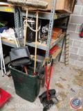(2) Push Brooms, Broom/Dustpan, Broom Pole