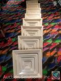 (8) Industrial Ceiling Dust Deflectors