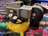 2x4 Oil Free Air Compressor, Air Tank, (2) Handy Green II Hand Spreaders