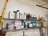Assorted Commercial Cleaning Products, Wire Floating Double Shelf 59