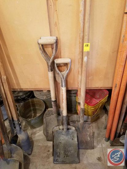 (6) Square Point Shovels