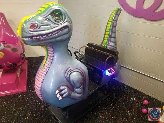 Shaw Dinosaur Kiddie Arcade Ride Whittaker Bros. Equipped w/ Embed System Card Reader Scanner; Does