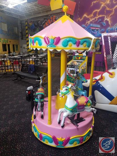 Carousel Kiddie Ride by Kiddie Model CC Equipped w/ Embed System Card Reader Scanner; Does NOT Have