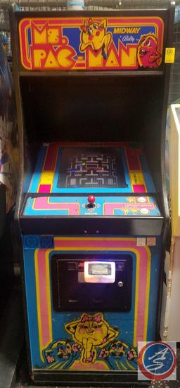 Ms. Pac-Man Midway Bally 1981 Equipped w/ Embed System Card Reader Scanner; Does NOT Have the