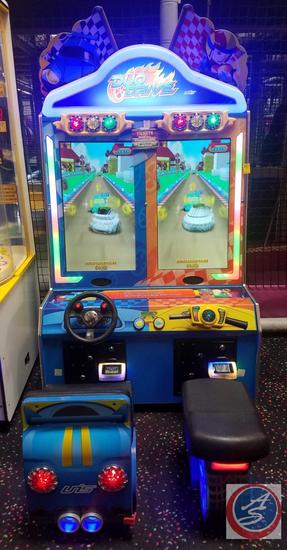 Duo Drive UNS 2 Player Race Arcade Game Equipped w/ Embed System Card Reader Scanner; Does NOT Have