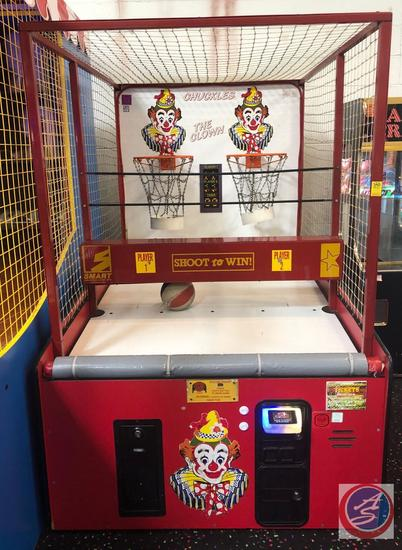 Shoot-To-Win 2-Player Basketball Arcade Game by Smart Industries Corp. Model 212310 Equipped w/