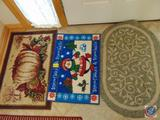 (3) 2' x 3' Holiday Entry Rugs