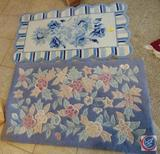 (2) Sculpted Blue Acrylic Accent Rugs, (2.5 x 4') 42 x 28