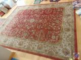 Kingsley House Dense Wool 10 x 12 ft. Maroon Floor Rug Made in India
