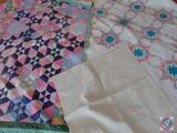 Collection of (3) Hand Quilted Vintage Quilts