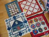 (4) Quilted Wall Hangings, None Over 3 Foot in Diameter