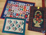 (3) Quilted Wall Hangings, All Under 4 Feet in Length