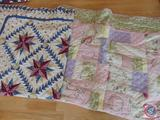 (2) Machined Quilts for Full Size Beds