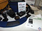 Canon EOS Rebel 300D Digital Camera Model DS6041 w/ Case, Battery + Charger