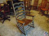 Ladder Back Rocker w/ Arms 26w x 21d x 49h