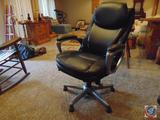 Serta Deluxe Leather Executive Chair w/ Brushed Chrome