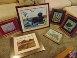 (6) Framed and Matted Original Artwork Designs by Phyllis Herbst