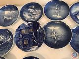 Collection of Bing and Grondahl Decorated (18) Plates Ranging From 1966 on