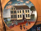 (8) Limited Edition Museum Colonial Heritage Series Decorative Plates by Robert Fanke, w/ Plastic