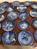 Collection of (19) Bing and Grondahl Decorated Collector Plates Ranging from 1966 on...