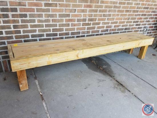 "Wooden Bench 96"" x 18"" x 18"""