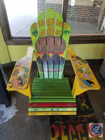 Hand Painted Wooden Beach Chair