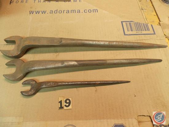 (3) Spud Wrenches including Williams 1-5/16 in. - #907 A Billing 1-1/8 in. - 11/16 in. 9222 P and C