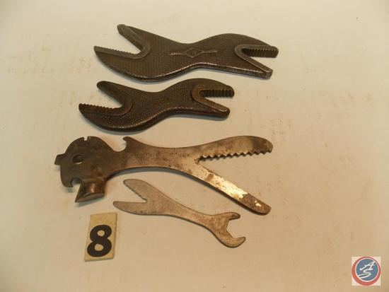(4) Alligator Wrenches including W #2 - W stamped EDJ - Barcalo Buffalo - and unmarked